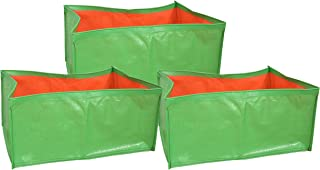 COIR GARDEN Terrace Gardening HDPE Grow Bags for Vegetable Plants, 18x12x8 Inches, 46cms (L) X30cms (W) X20cms (H) - Pack ...