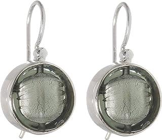 """Gabriella Nanni, Orecchini in argento 925 con Vetro di Murano - """"Vetro Sommerso - Orecchino Tondo Piccolo a Monachella"""""""