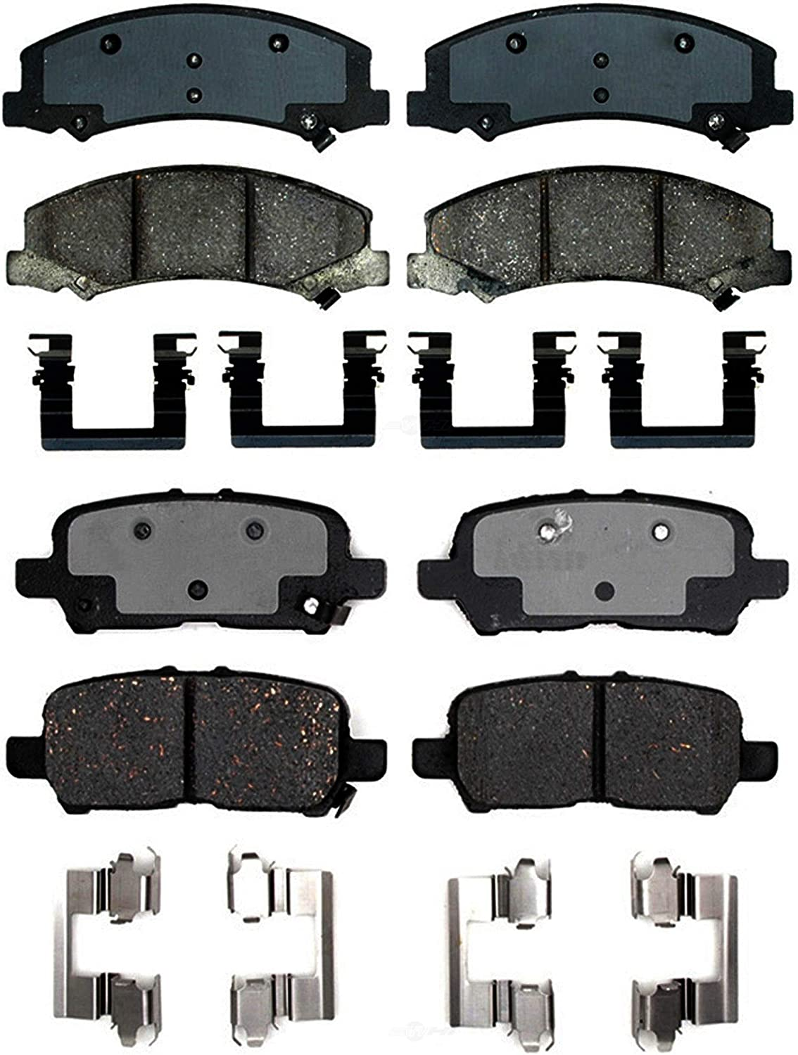 Max 89% OFF Front Rear Ceramic Brake Pad Sets Kit Pro For Chevy ...