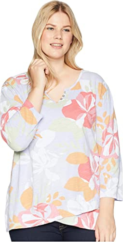 Plus Size Fresh Blossom Jordan Top