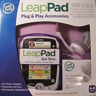 Leap Frog LeapPad Plug & Play Accessories Exclusive Purple Gel Skin, AC Adapter and Headphones