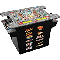 Arcade 1Up Deluxe 12-In-1 Head to Head Cocktail Table with Split Screen Street Fighter & More