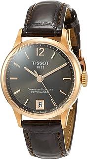 Tissot womens Chemin des Tourelles Stainless Steel Dress Watch Brown T0992073644700