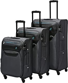 AT by Samsonite 3-Piece Softside Trolley Luggage Set (22, 27 & 31 Inch) - Charcoal Grey