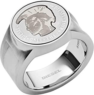 Diesel Men's Silver Ring, DX1202040