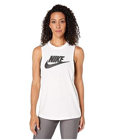 Nike Sportswear Tank Essential Muscle Futura (White/Black) Women