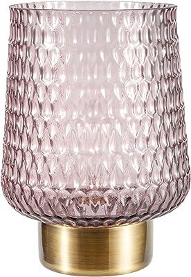 Pauleen 48135 Sparkling Glamour Lampe Mobile Poser minuterie 6 Heures Pile luminaire câble Verre Gris/Métal, 0.8 W, Brun, Laiton