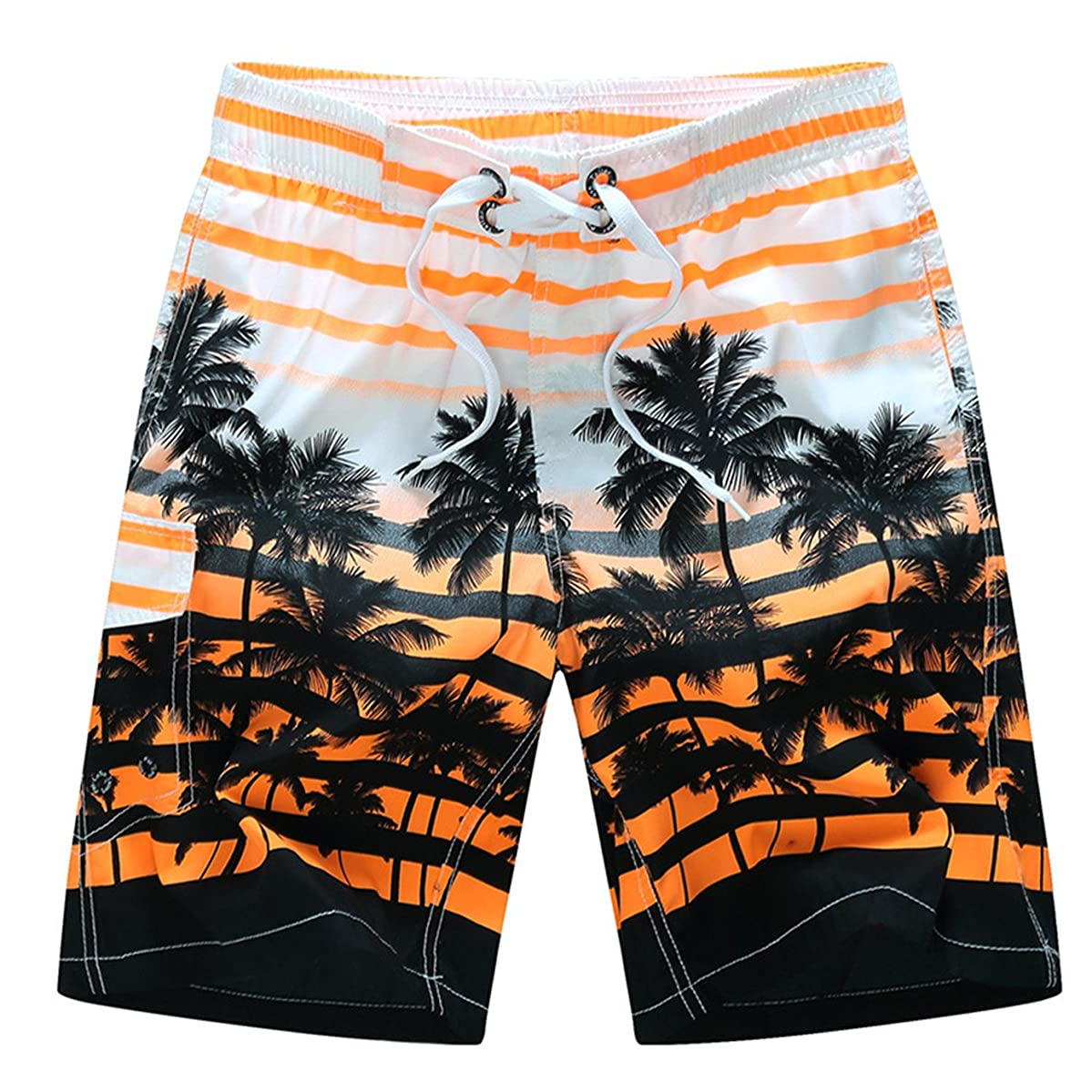 WESIZAR Men's Summer Short Swim Trunks Casual Quick Dry Boardshorts