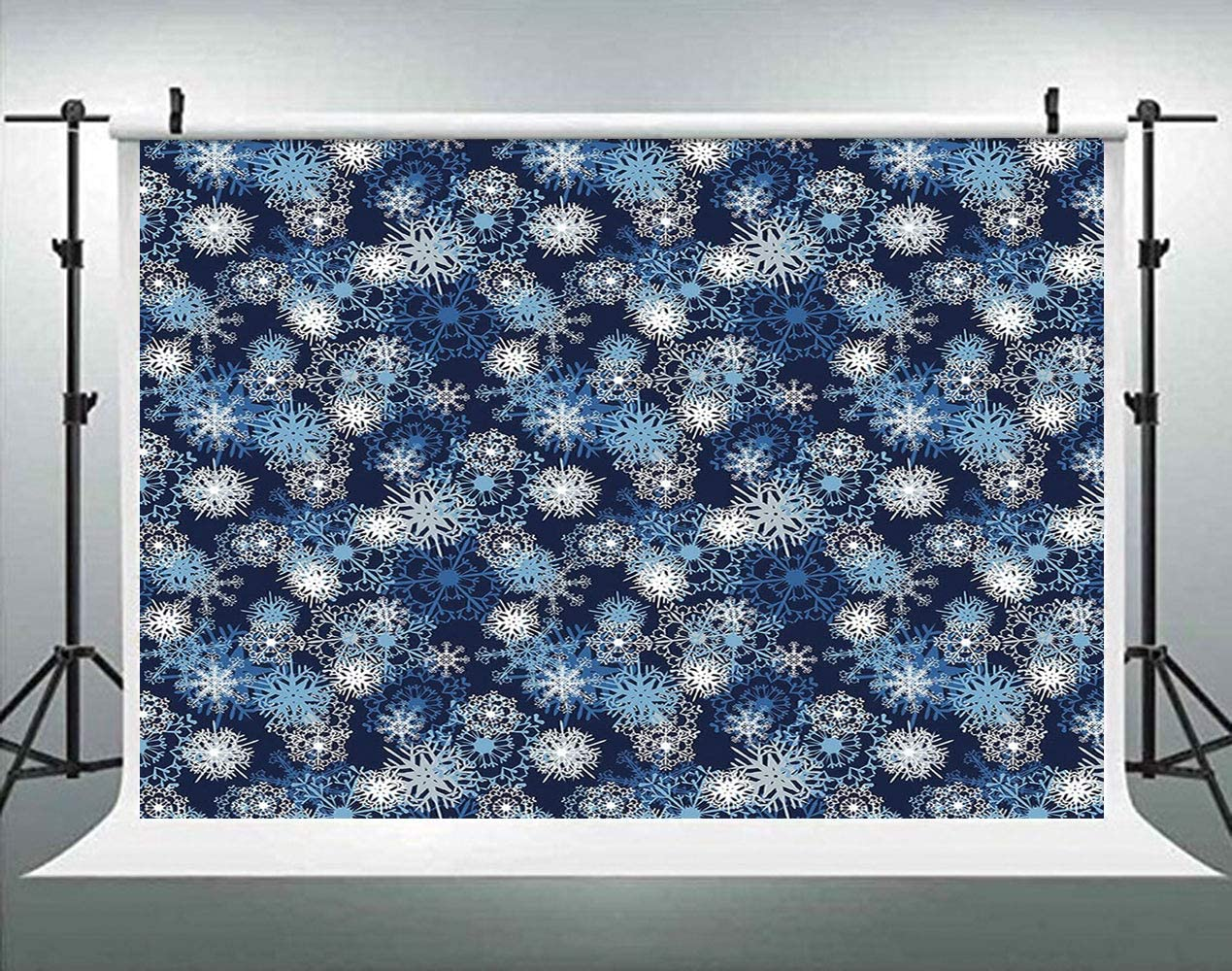 Snowboard and Ski Sports Pattern with Snowflakes Background Backdrop for Selfie Birthday Party Pictures Photo Dance Decor Wedding Studio Background AM034131 ALUONI 5x3ft Winter
