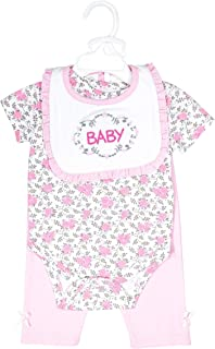 Harry & Violet Three-Piece Layette Set For Baby Girls; For Infants
