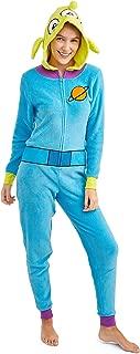 Women's Faux Fur Licensed Sleepwear Adult Costume Union Suit Pajama (XS-3XL) Toy Story Alien XL