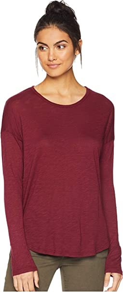 Long Sleeve Slub Drop Shoulder Tee