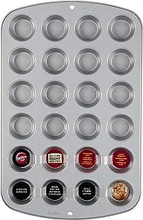 Wilton Recipe Right Mini Muffin Tin, 24 Cup, Non Stick