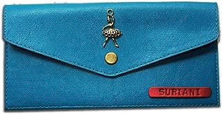 SOHAMNA International Sea Green Personalized Ladies Minimal Clutch