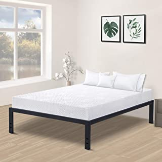 Olee Sleep 18inch Tall Steel Slat / Non-slip Support S-3500 High Profile Platform Bed Frame, Full