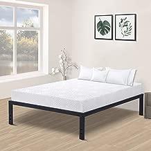 Olee Sleep New Dura Metal Steel Slate Bed Frame, Queen, Black