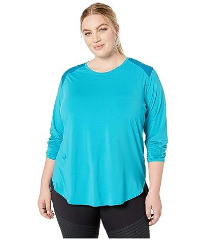 Columbia Plus Size Saturday Trailtm Knit Long Sleeve Shirt (Modern Turquoise/Siberia) Women