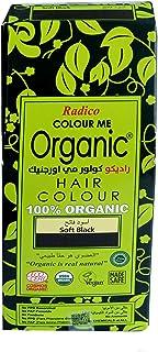 Organic hair colour, chemical free, 100g Soft Black