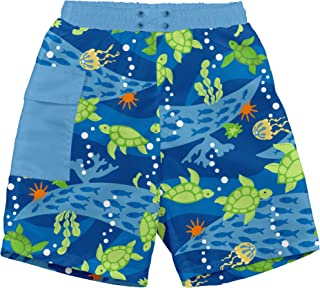 i play. Boys' Pocket Trunks with Reusable Absorbent Swim Diaper