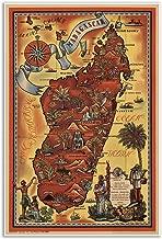 Antiguos Maps Parisian Pictoral Map of Madagascar by Maurice Tranchant Circa 1952 - Measures 24