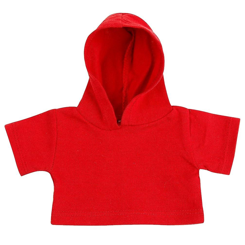 それる線形物理的に(マンブルズ) Mumbles テディーベア用パーカー ぬいぐるみ用フード付きTシャツ (L) (レッド)