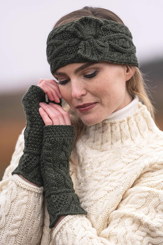 Aran Crafts Women's One Size Irish Cable Knitted Headband (100% Merino Wool)