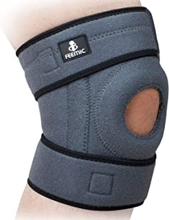 Knee Brace Support for Men & Women, Knee Compression Sleeve with Open Patella Stabilizer for Meniscus Tear, Running, Arthritis, ACL,Sports and Injury Recovery