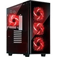 Rosewill CULLINAN-RED ATX Mid Tower Gaming Computer Case Chassis + Rosewill 500W Power Supply