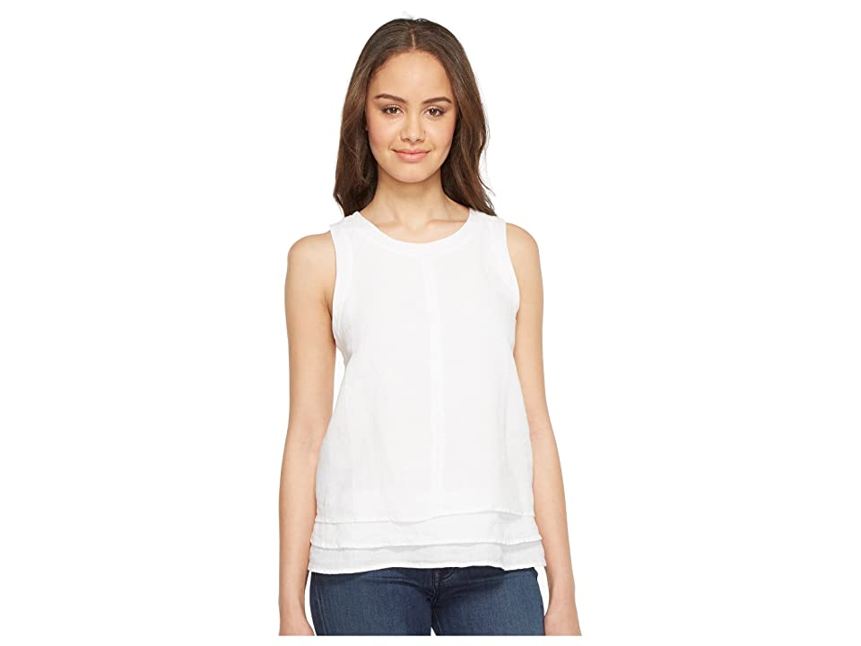 Three Dots Layered Tank Top (White) Women
