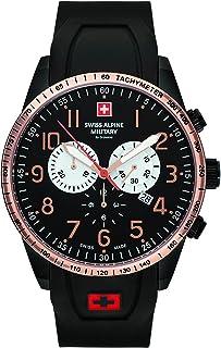 Montre chronographe Grovana - Swiss Alpine Military - Pour homme - Avec bracelet en silicone - 10 ATM