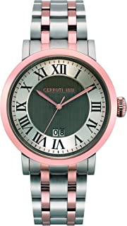 Cerruti 1881 Pinzolo Men Analogue Watch With Silver Dial And Rose Gold Stainless Steel Bracelet - CRA22309