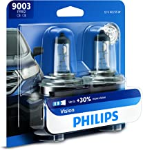 Philips 9003 Vision Upgrade Headlight Bulb with up to 30% More Vision, 2 Pack