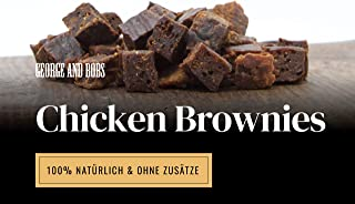 George & Bobs Chicken Brownies - 1000g   Trainingssnack aus Huhn mit Quinoa   Lecker mit Superfoods   100% Natürlich