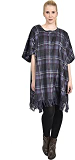 DKNY 女式格子羊毛休闲斗篷