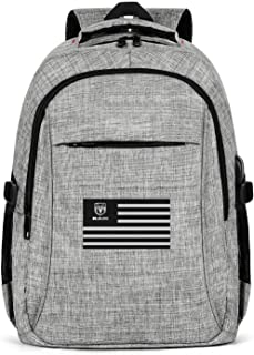 Laptop Backpack Water Resistant RAM-National-Flag-for-Sale- College School Bookbag with USB Charging Port for Men Womens Laptop Outdoor Backpack Fits 15.6 Inch Laptop Notebook-Grey