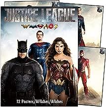 DC Comics Justice League Poster Book Super Set ~ Bundle Includes 12 Posters Featuring Superman, Batman, Wonder Woman, and More with Bonus Bookmark (Justice League Room Decor)