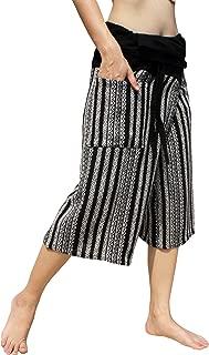 RaanPahMuang 厚线保暖针织棉渔夫艺术泰国包裹裤