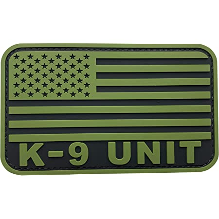 K-9 Thin Orange Line Search and Rescue Patch Embroidered Iron  Sew on Badge Canine Service Dog Applique 3.5 Inch