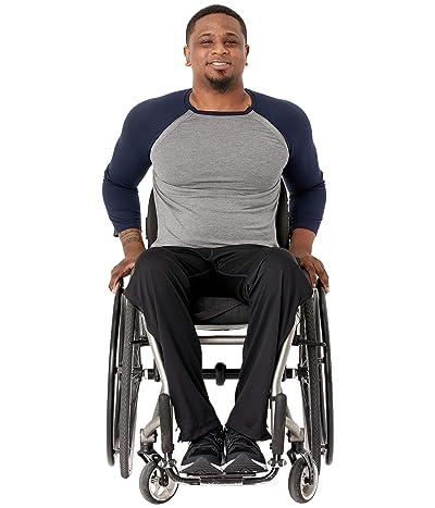 Abilitee Adaptive Wear Adaptive Shoulder Snap Baseball Tee (Navy) Clothing