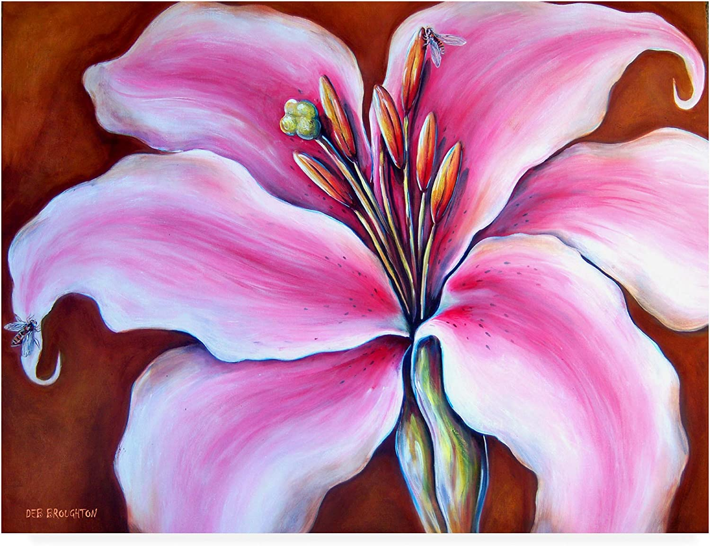 Trademark Fine Art Flower Lily Bees