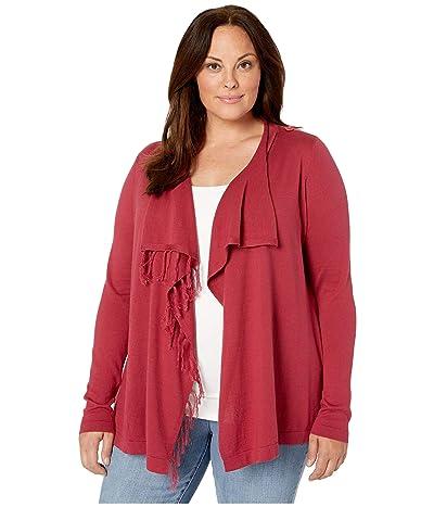 Aventura Clothing Plus Size Benicia Wrap Cardi (Dry Rose) Women