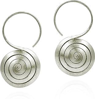 Mixed Metal Jewelry Dangle Earrings Rose Gold Earrings Karen Hill Tribe Silver Earrings with Rose Gold Filled Wire Teardrop Earrings