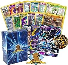 Golden Groundhog Pokemon Sun & Moon Series Legendary GX Lot - 100 Pokemon Card Lot with 1 Sun & Moon Series GX! Rares Foils and Coin! Includes Deck Box!