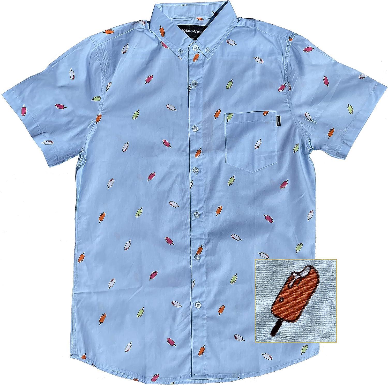 M MOLOKAI SURF Boys Shirts Fun Hawaiian Short Sleeve Shirt