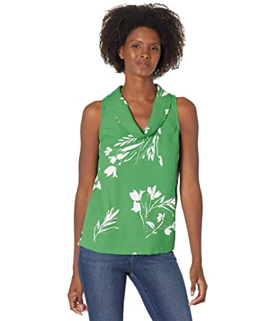 Vince Camuto Sleeveless Cowl Neck Floral Whispers Blouse