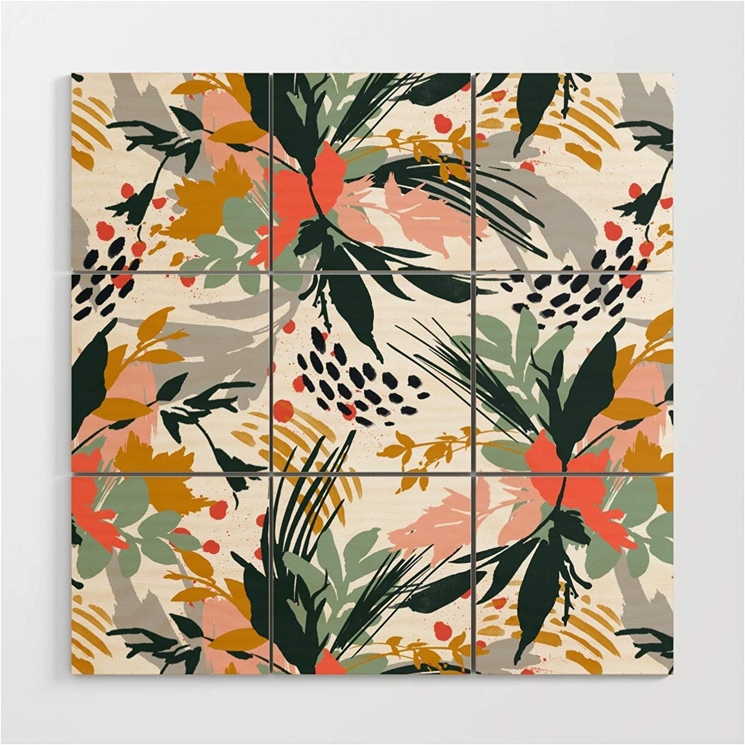 Society6 Botanical Brush Strokes I by Wall Max 55% OFF Ar Wooden Mmartabc Max 47% OFF on