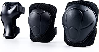 Anikea Kid Knee Pads Elbow Pads Wrist Guards, 6 in 1 Protective Gear Set for Skating Skateboarding Rollerblading Scooter Biking Longboard, 2 Sizes