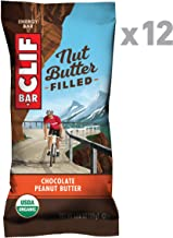 CLIF Nut Butter Filled, Organic Energy Bars, Protein Snack Bars, Chocolate Peanut Butter, 1.76 Ounce, Pack of 12