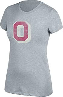 J. America NCAA Ohio State Buckeyes Womens NCAA Women's Ohio State Logo Slub Crew Tee, Medium, Oxford