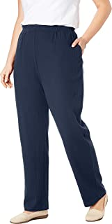 Women's Plus Size 7-Day Knit Ribbed Straight Leg Pant